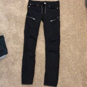 BDG skinny black lace up pant, good condition